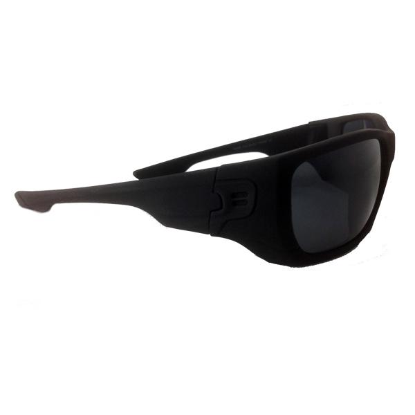 54279125327fb1 Mannen zonnebril in mat zwart met donkere glazen. - sunlooper.nl - billede  2 ...