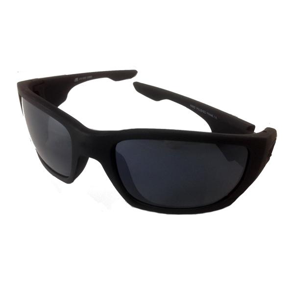 7afeaf8456c2d3 Mannen zonnebril in mat zwart met donkere glazen.
