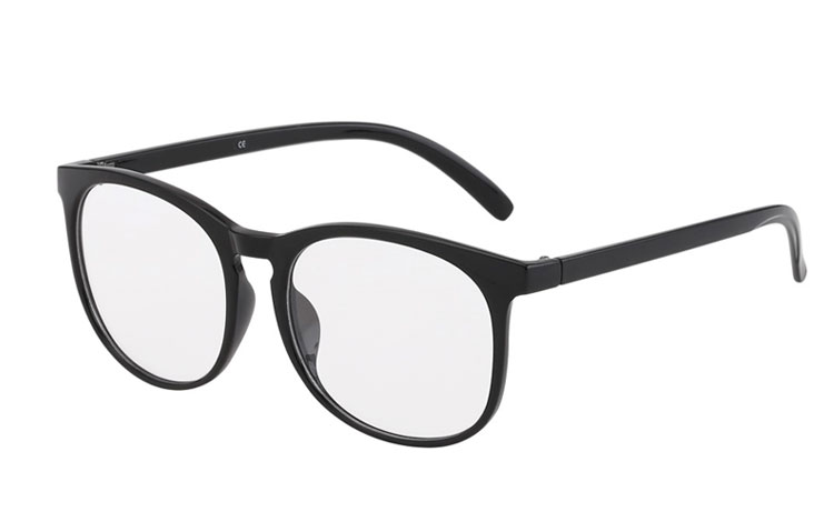 6f163d3824bd1c Zwarte ronde bril zonder sterkte - Design nr. 3017