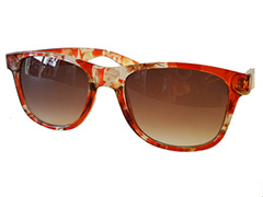 Rode Wayfarer met patroon - Design nr. 580